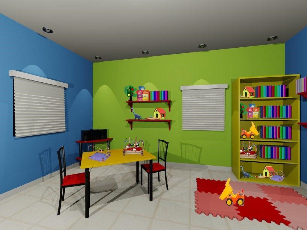 Propuesta de distribución de colores para habitación infantil.