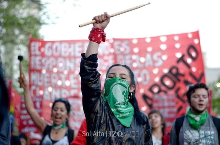 Manifestación por el aborto legal
